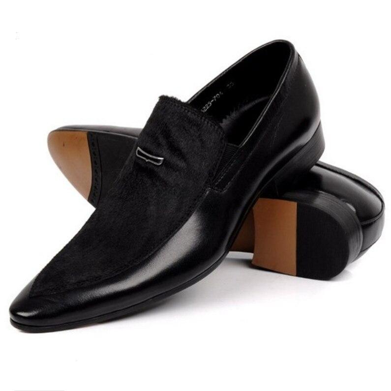 Negócio Dedo Homens Sapatos De Genuíno Casamento Dos Mens Sapatas Pé Pontas Vestido Camurça Tamanho Eur45 Couro Do Preta Grande xXqwTZ7WIW