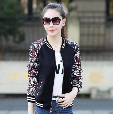 Big size S 3XL Baseball Jacket Women Coat for Girl spring Autumn lady Clothing jacket women basic coats long Sleeve slim jacket in Jackets from Women 39 s Clothing