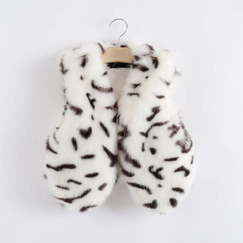 e721c88bd infant toddler little baby girls fur vest fashion children winter ...