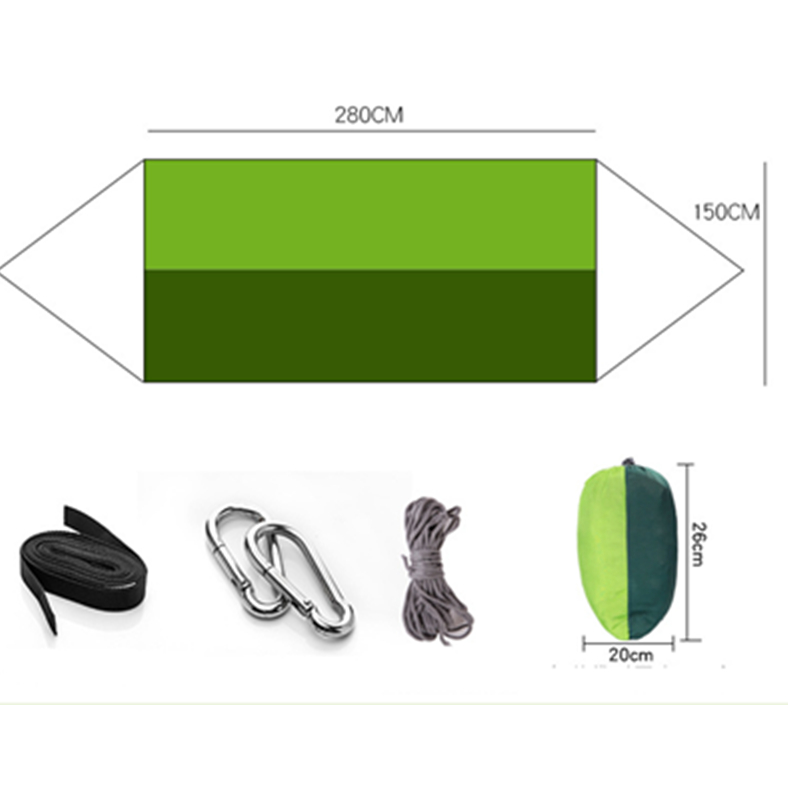 Image 4 - VILEAD 260*140 cm Camping Hammock with Mosquito Portable Stable High Strength Cavans  Hanging Bed Sleeping Hiking Camping Cot-in Camping Cots from Sports & Entertainment
