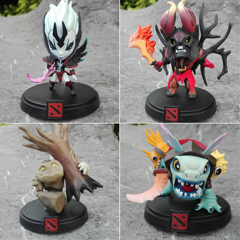 Dota 2 Hero 4pcs DOTA Slardar Silkwood The Doom Bringer Stone Giant PVC Action Figure Model Toy In box best XMAS Gift Decoration valve studio orchestra the dota 2 official soundtrack