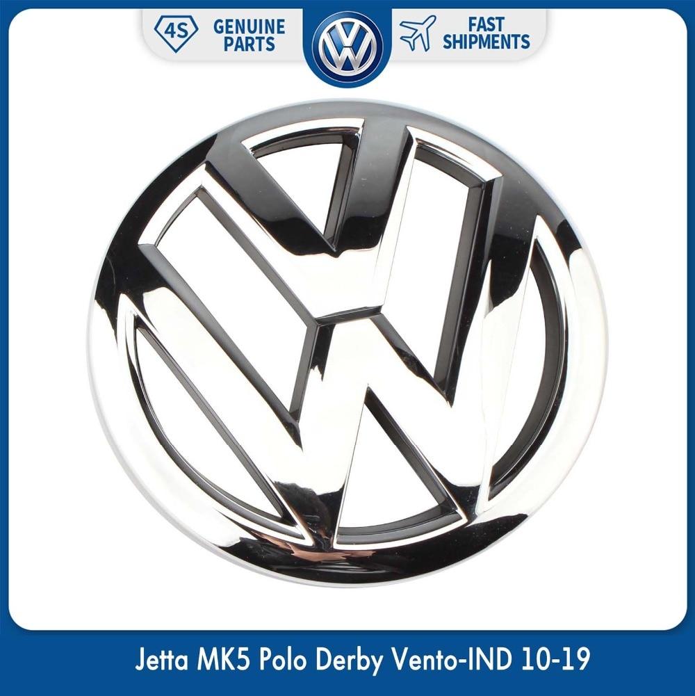 Эмблема для гриля на переднюю решетку OEM 120 мм, хромированный логотип для Volkswagen VW Jetta MK5 Polo Derby Vento-IND 10-19 6R0 853 600 A ULM