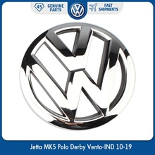 OEM 120mm Front Grille Grill Emblem Chrome Logo Badge for Volkswagen VW Jetta MK5 Polo Derby Vento-IND 10-19 6R0 853 600 A ULM