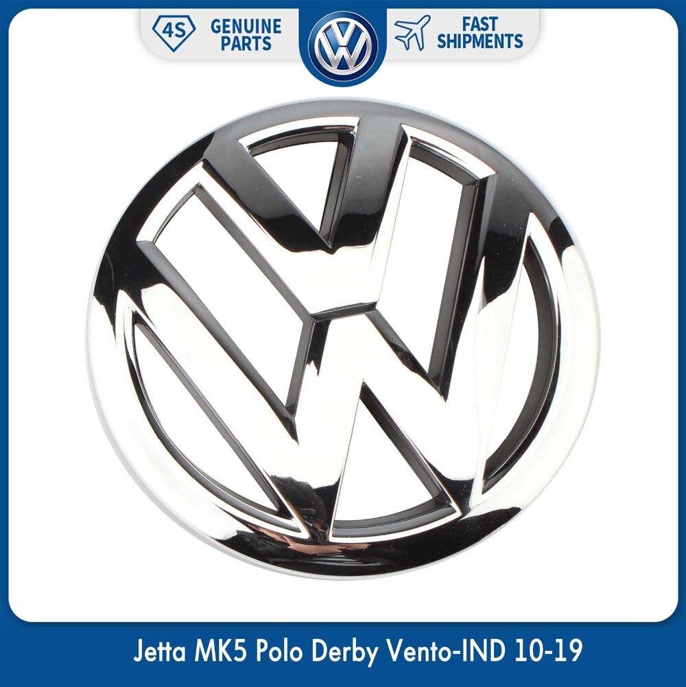 OEM 120mm Front Grille Grill Emblem Chrome Logo Badge for Volkswagen VW Jetta MK5 Polo Derby Vento-IND 10-19 6R0 853 600 A ULM