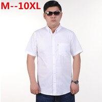 10XL 8XL 6XL 5XL Мужская льняная рубашка повседневная мужская рубашка с коротким рукавом тонкие дышащие тонкий синий рубашки мужская одежда Больш...