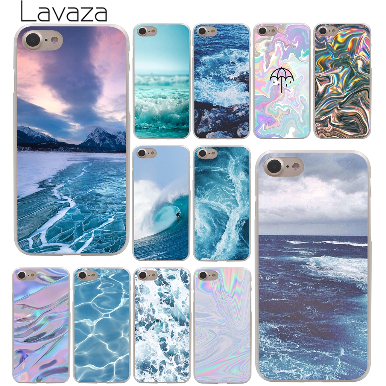 The waves Ocean water Hard Case Transparent for iPhone 7 7 Plus 6 6s Plus 5 5S SE 5C 4 4S