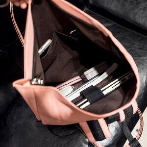 Image 4 - 女性外部 USB 充電バックパックキャンバスリュックサック男性 Mochila アブラソコムツ女の子のラップトップバッグバックパック十代の若者たち