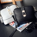 Hanup 2016 new winter woven lock shell bag Mini Handbag ladies fashion shoulder bag women bag Diagonal Bag