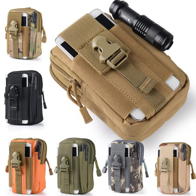 Outdoor Tactical Molle Pouch Belt Pack Bag Military Waist Fanny Pack Utility Gear Bag Hiking Climbing Small Pocket