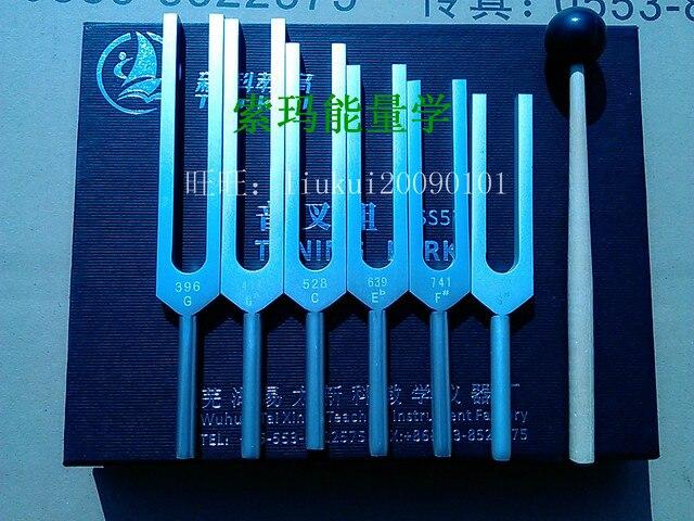 شوكة ضبط الطاقة المهنية من الألمونيوم شوكة الشفاء 6 قطعة 396 هرتز 417 هرتز 528 هرتز 639 هرتز 741 هرتز 852 هرتز هرتز هرتز