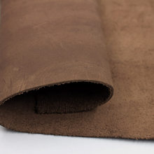 Brown Natural skin Cow leather Crazy Horse Leather DIY Leathercraft Vintage Oil Tanned Leather First Layer of Genuine Leather(China)