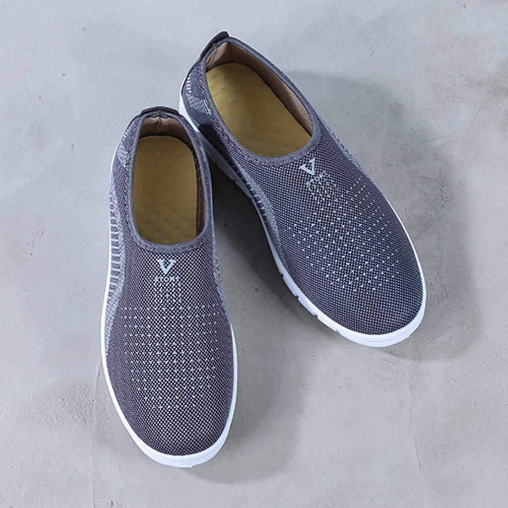 Zapatos de MUQGEW para hombre, zapatillas de deporte de malla fina de moda 2019, zapatos deportivos cómodos, mocasines, zapatos casuales, zapatillas hombre