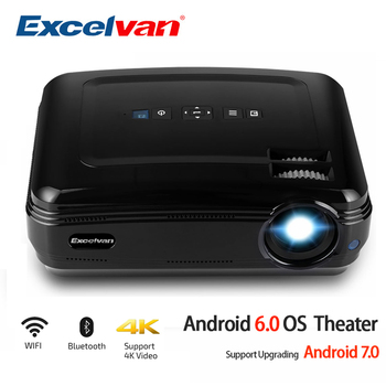 Excelvan BL59 LED Projector 3500Lumen Android 6.0 Beamer Built-in WIFI Bluetooth Support 4K Video Proyector Full HD 1080P LED TV