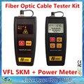2 1 herramientas FTTH con Mini fibra óptica medidor de energía - 70 ~ + 6 dBm y 1 mW 5 KM localizador Visual de fallos VFL de fibra óptica Cable Tester