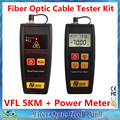 2 in 1 FTTH Tools with Mini Optical Fiber Power Meter -70~+6dBm and 1mW 5KM Visual Fault Locator VFL Fiber Optic Cable Tester