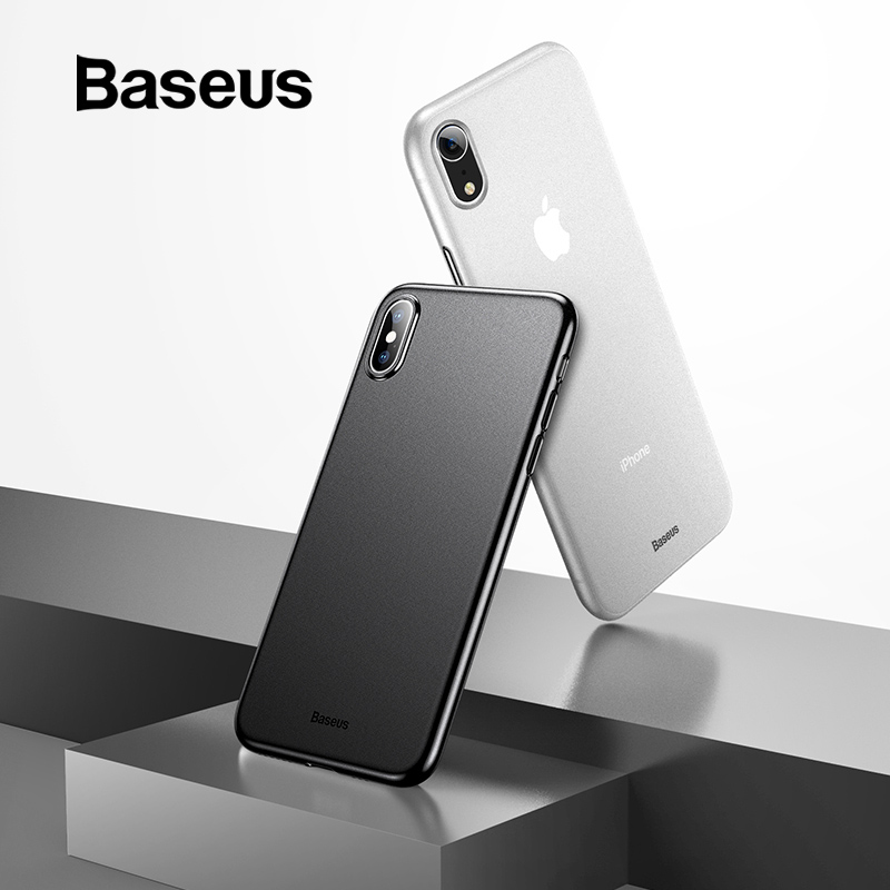 Baseus Ultrathin Back Case for iPhone X Xs XR Capinhas Anti-Fingerprint Fitted Case for New iPhone 5.8 6.1 6.5inch Xs Max Capa iPhone XR