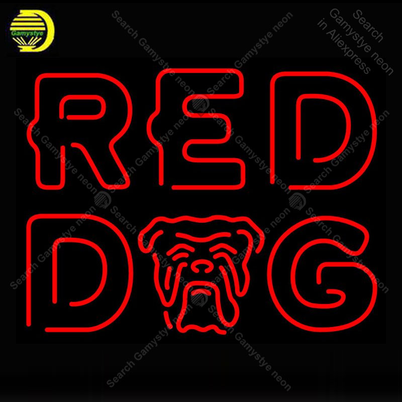 Red Dog Neon Sign Glass Tube Handmade Avize neon light Sign Decorate Restaurant Game room Iconic Neon Light LampsRed Dog Neon Sign Glass Tube Handmade Avize neon light Sign Decorate Restaurant Game room Iconic Neon Light Lamps