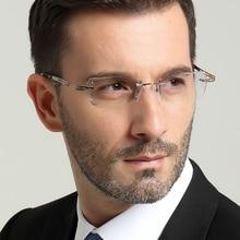 Mens eyewear prescription diamond trimming glasses frame rim