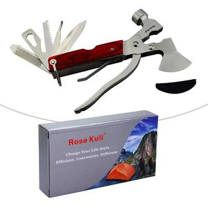 Image 3 - MYSBIKER Portable Multipurpose Multi Tool Multifunctional Pocket Mini Tools with Axe Hammer Plier Set Wooden Handle