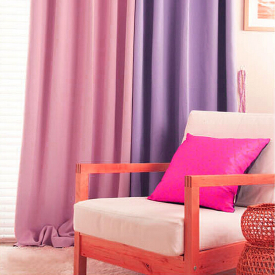 korean pink modern curtains for living room blackout curtains for ...