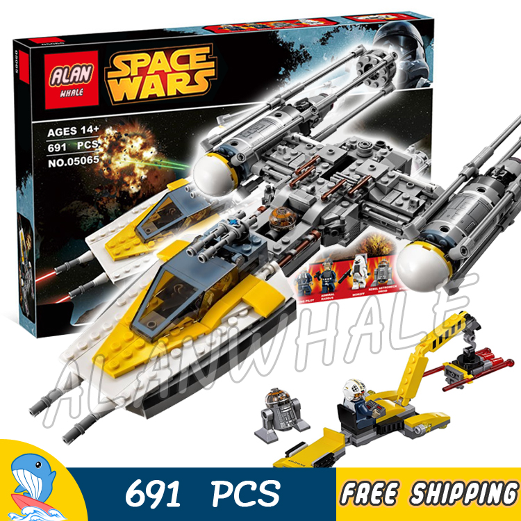 691pcs Space Wars Y-Wing Starfighter Universe Fighter 05065 Model Building Blocks Teenager Toys Bricks Game Compatible With Lego