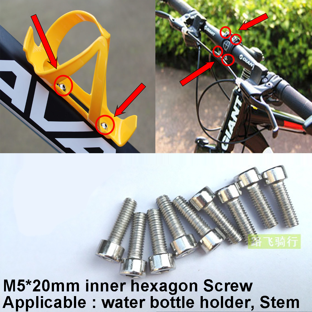 10Pcs Bike Water Bottle Cage Screw Bicycle Cycling Bottle Bracket Mount Bolt