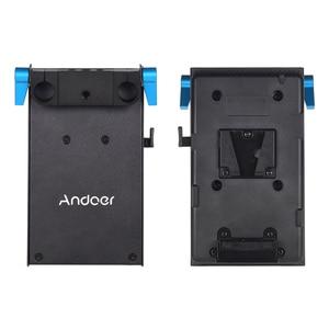 Image 4 - Andoer V جبل V قفل لوح بطارية محول ل BMCC BMPCC كانون 5D2/5D3/5D4/80D/ 6D2/7D2 مع الدمية مهايئ بطارية التصوير