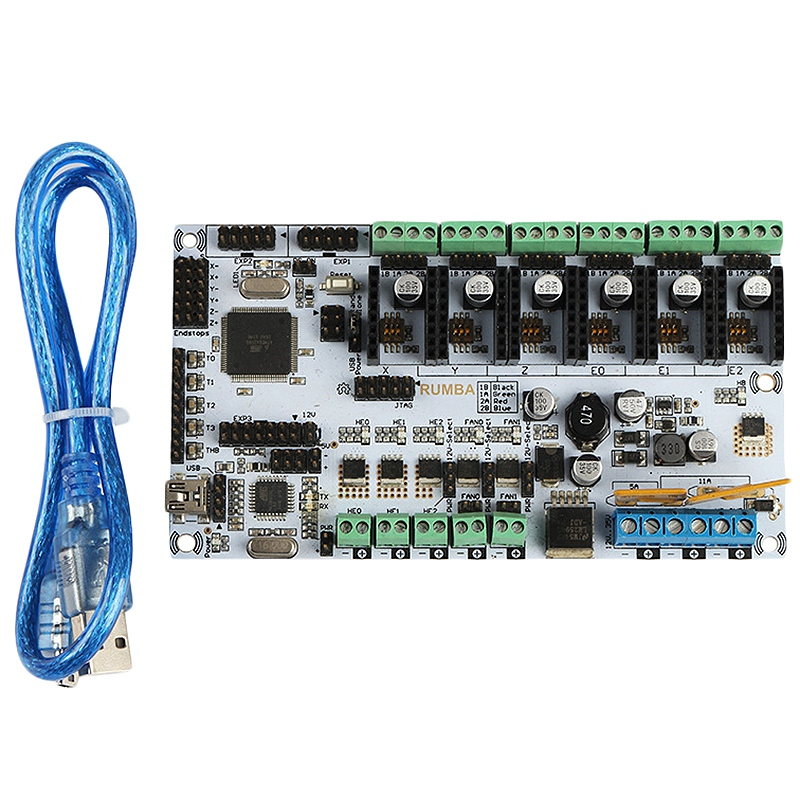 Rumba 3D Printer Control Board With Usb Cable For 3D PrinterRumba 3D Printer Control Board With Usb Cable For 3D Printer