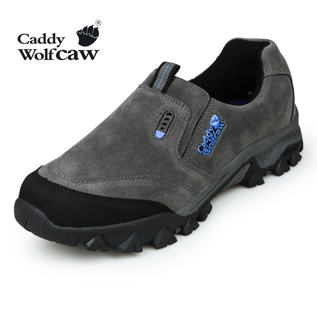 Free Shipping 2015 Genuine Leather Outdoor Hiking Shoes Men Camping Sport Shoes Brand Shoes Trekking Shoes Male In Stock