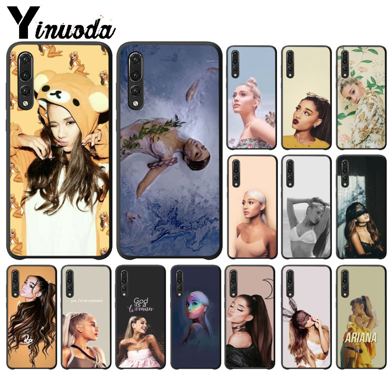 Yinuoda Cat Ar Ariana Grande Black TPU Soft Rubber Phone Cover for Huawei P10 plus 20 pro P20 lite mate9 10 lite honor 10 view10
