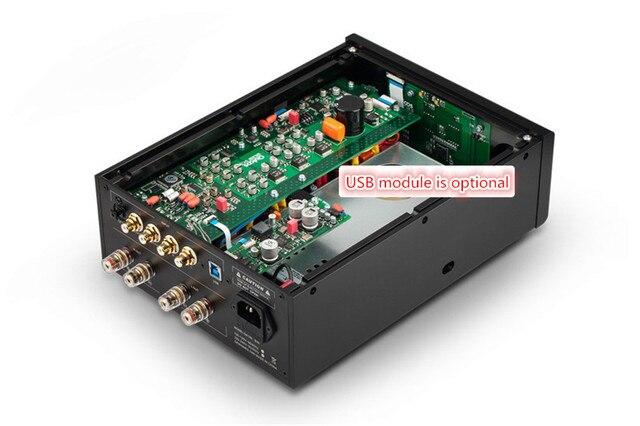 QLS HIFI QA690 Pure Full Digital Audio Amplifier Input PC USB/Coaxial*2/Optical/RCA Power Handle 160W*2 Support DSD 24Bit/192KHz 4