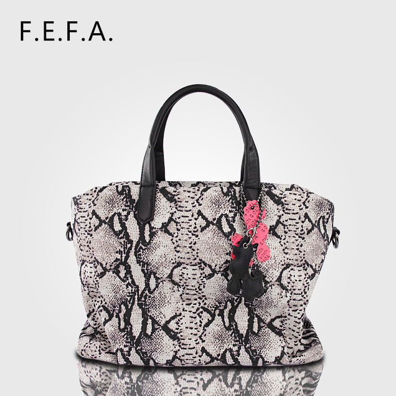 ФОТО 36x31CM European and American style brand fashion handbags serpentine leather handbags atmospheric series printing pack A2491