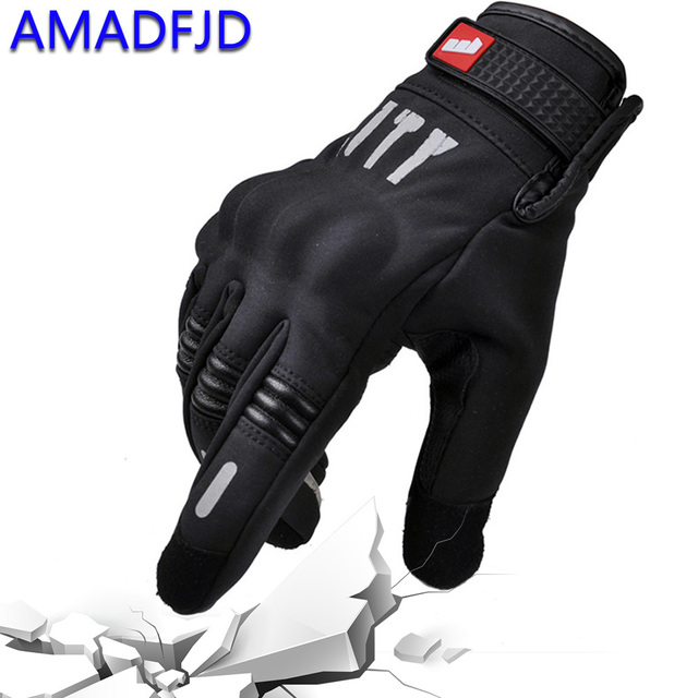 Hot!! Winter wind and cold full finger touch screen reflective motorcycle riding gloves outdoor motocross glove Protective gears