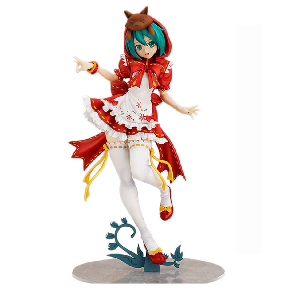 Chanycore Janpan Vocaloid Hatsune Miku Anime Figure Red Riding Hood Project DIVA 2nd Ver. PVC Figure Model Doll Toy 23cm anime hatsune miku red riding hood project diva 2nd brinquedos pvc action figure juguetes collectible model doll kids toys 25cm