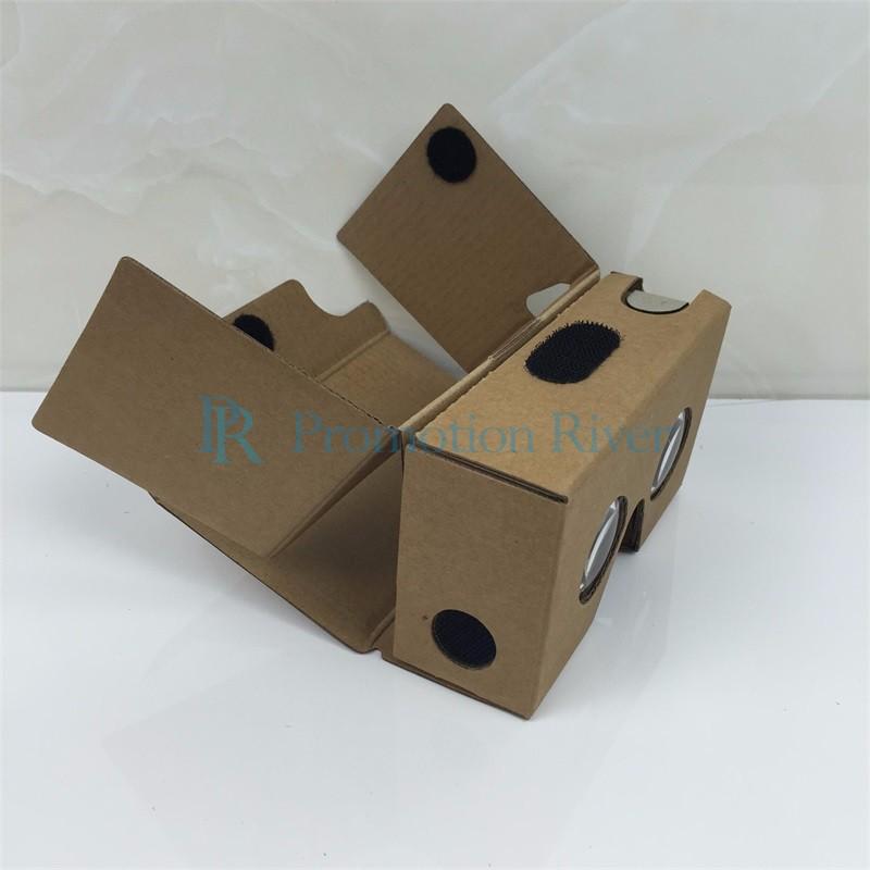 Event Supplies Logo Custom Google Cardboard V 2.0 Custom printing Virtual Reality Headset VR Viewer for up to 6 inch phone 7