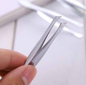 400pcs/lot Stainless Steel Eyebrow Tweezers Bite Tight Sliver Threading Clips Eyebrow Clip MAKE-UP TOOL HA481 5