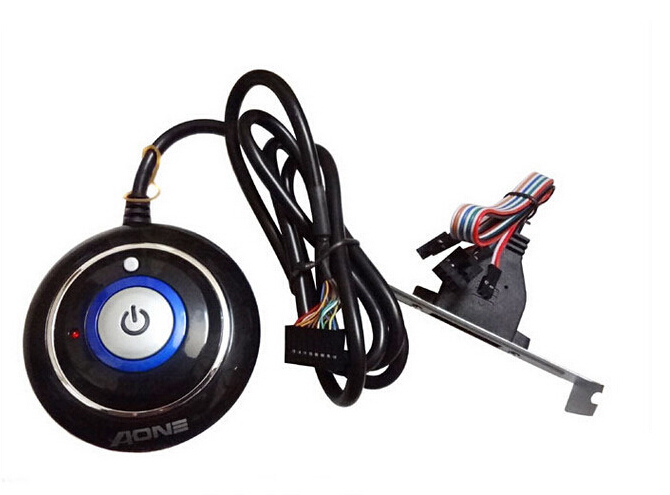 1pcs Power Switch Button ON OFF LED Status Light Dual USB Plug Bracket Mount Net Cafe for PC Desktop Free Shipping