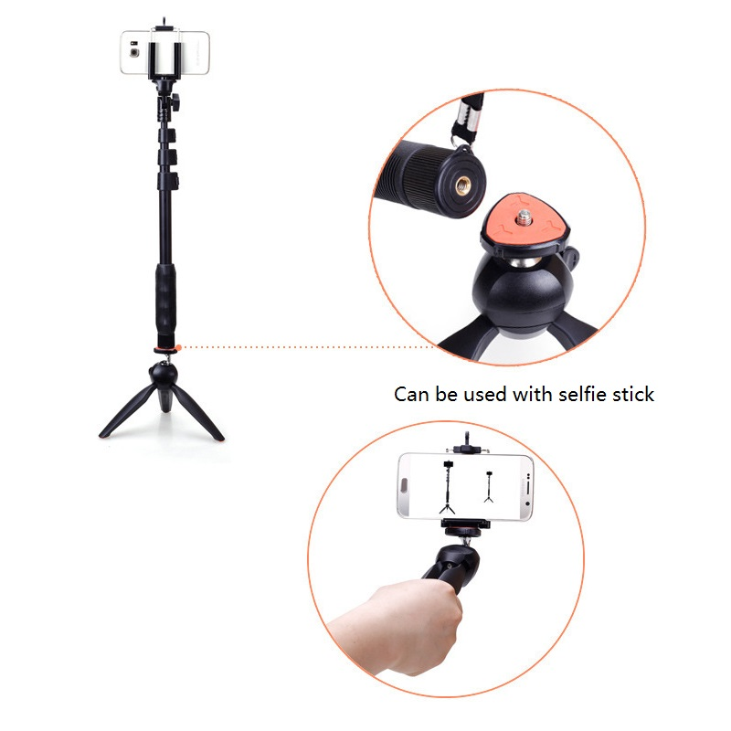 MAMEN Mini Desktop Phone Tripod Camera Stand Clip For Phone Universal iPhone Huawei For Sony Nikon Canon Monopod Selfie Stick in Live Tripods from Consumer Electronics