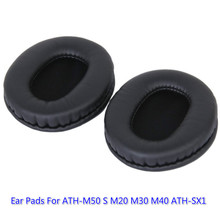 1 Pair Replacement Ear Cushion Pad Comfortable Soft Foam Ear Pads For Audio Technica ATH-M50 M50S M30 M40 ATH-SX1 Headphones