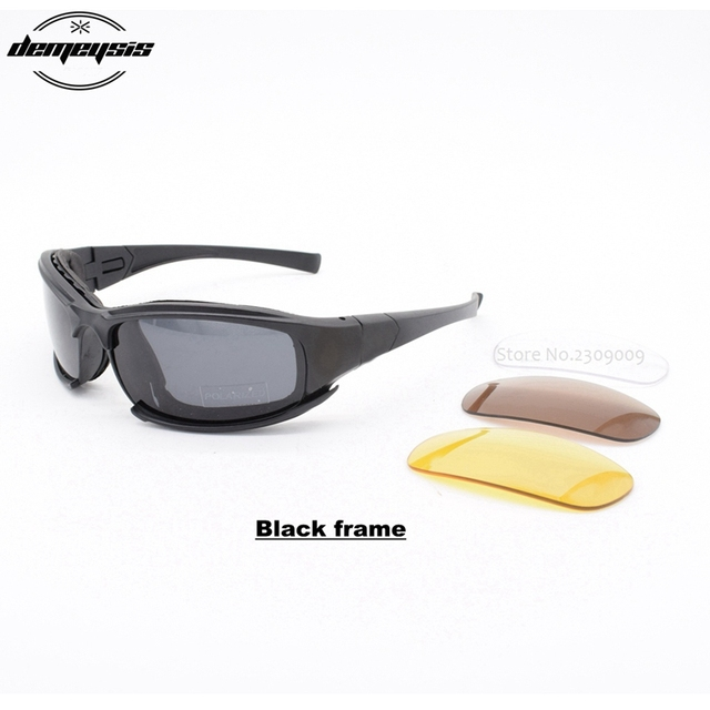 e97366694b8 Tactical Goggles Men Military polarized Sunglasses Bullet-proof airsoft  shooting Gafas 4 len Motorcycle Cycling