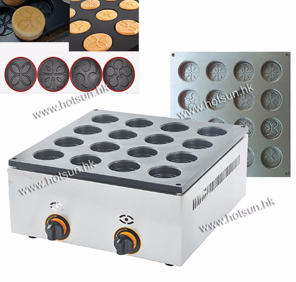 LPG Gas Commercial Use 16pcs Dorayaki Azuki Bean Cake Waffle Maker Iron Machine Baker free shipping 28pcs commercial lpg gas