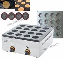 LPG Gas Commercial Use 16pcs Dorayaki Azuki Bean Cake Waffle Maker Iron Machine Baker