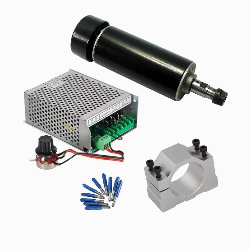 YOO CNC 500 W DC refroidi par Air broche alimentation gouverneur pince pince outils de CNC pour bricolage mini CNC routeur