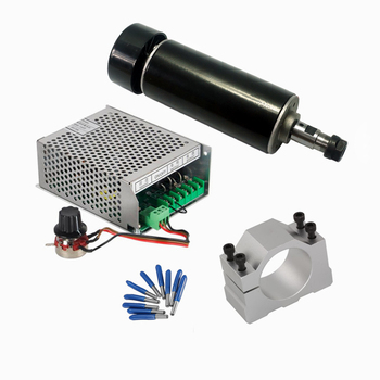 YOOCNC 500W DC Air Cooled spindle Power Supply Governor Clamp Collet CNC Tools for diy mini cnc router cnc air cooled brushless spindle dc motor 500w er11 220v with speed governor controller