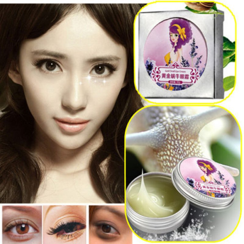 AFY(AIVOYE) Gold Snail Eye Cream Moisturizing Instantly Anti-aging Anti-Dark Circles Anti Puffiness Wrinkles Repair Eye Cream