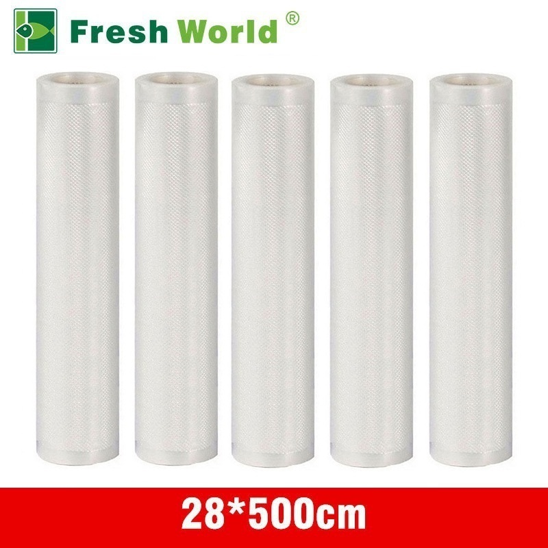 28*500CM Vacuum Packaging Rolls For Food Vacuum Sealer Bag Storage Saran Wrap Free Kitchen Food Vaccum Rolls Fresh World lagute vacuum sealer saver bags rolls fresh keeping for kitchen food storage all sizes 8 x 16 11 x 16 8 x 50 11 x 50