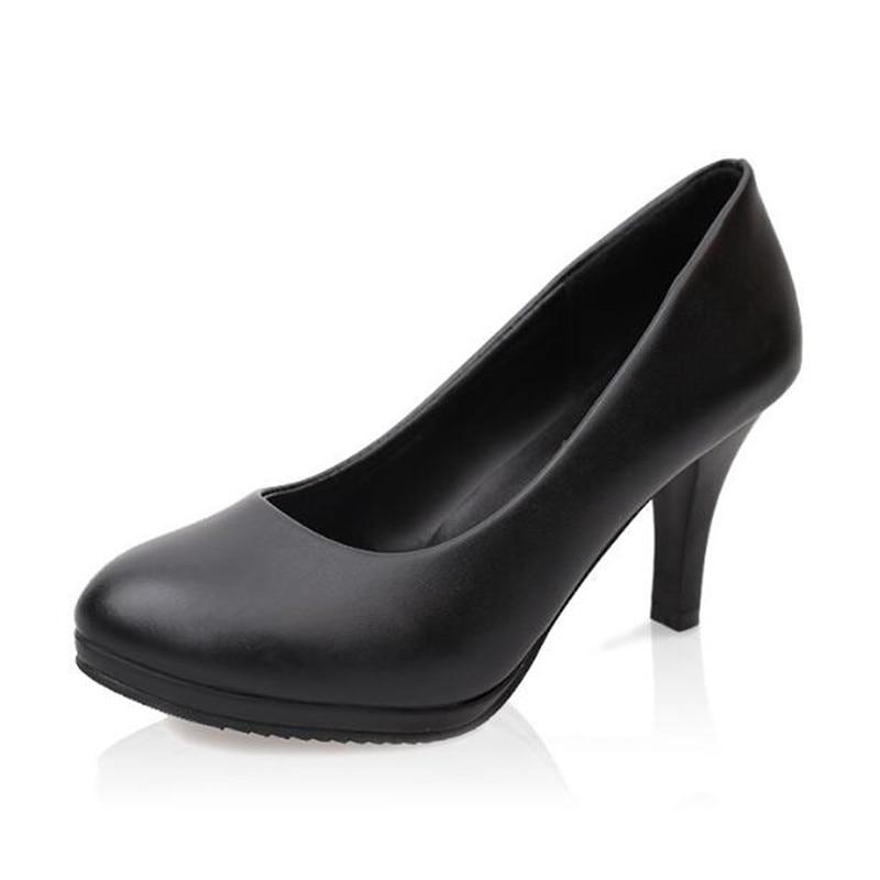 Black Black 328 Tacón Lss Y Mujer Zapatos Las Bright Gruesa matte 22017 Redonda Zapato Alto Impermeable Mujeres Con Verano Zapatos Primavera 8035 Nuevo De gPgrq1wf