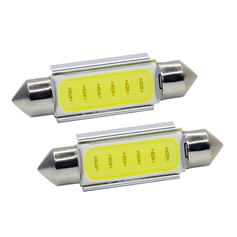 2Pcs/Lot SUNKIA Festoon COB 31MM/36MM/39MM/42MM 3W Car LED Bulbs Canbus Interior Dome Festoon Lights White 12V DC 2pcs festoon led 36mm 39mm 41mm canbus auto led lamp 12v festoon dome light led car dome reading lights c5w led canbus 36mm 39mm