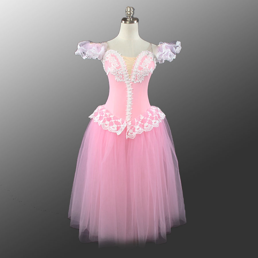 715ee2404 Ladies Pink Romantic Long Ballet Dress Professional Tutu Girls Ballerina  professional fairy Costumes Ballet Tutu For Women ~ Super Sale June 2019