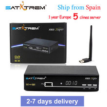 PK V8 SUPER Satellite Receiver X800 Super DVB-S2 1080P USB Wifi Antenna For 1 Year Europe Cccam Server Spain Italy Polish TV(China)